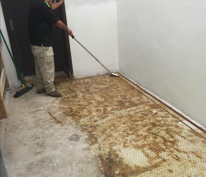 Restoring Ceramic Tile Flooring in Houston Church Before