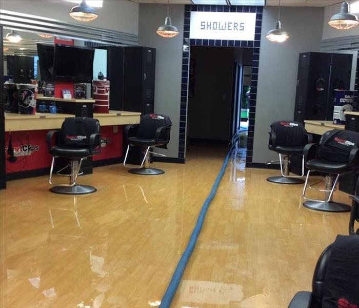 Flooded  Hair Salon in Houston, TX Before