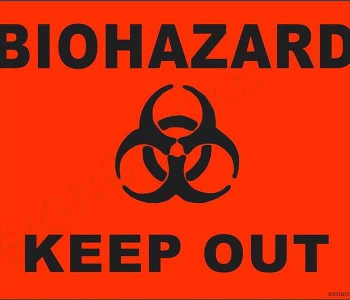 Biohazard SERVPRO Biohazard and Sewage Cleanup